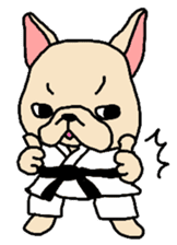 French Bulldog stickers KARATE ver. sticker #1213130