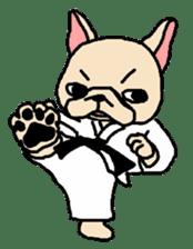 French Bulldog stickers KARATE ver. sticker #1213141