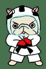 French Bulldog stickers KARATE ver. sticker #1213147