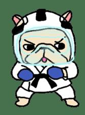 French Bulldog stickers KARATE ver. sticker #1213148