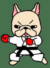 French Bulldog stickers KARATE ver. sticker #1213150