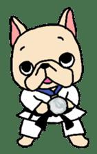 French Bulldog stickers KARATE ver. sticker #1213152