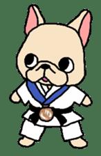 French Bulldog stickers KARATE ver. sticker #1213153