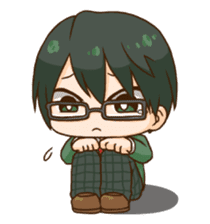 The boy wearing glasses sticker #1215974