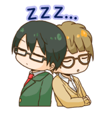 The boy wearing glasses sticker #1215975