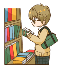 The boy wearing glasses sticker #1215977