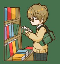 The boy wearing glasses sticker #1215977