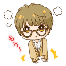 The boy wearing glasses sticker #1215980