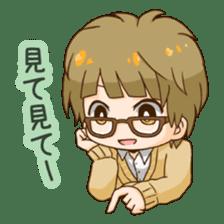 The boy wearing glasses sticker #1215989