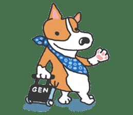 easygoing corgi GENTA sticker #1216588