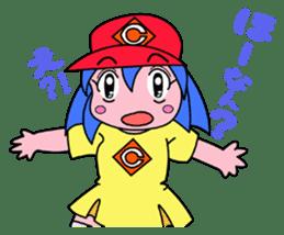 Dialect! HIROSHIMA Girl sticker #1217002