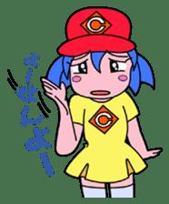 Dialect! HIROSHIMA Girl sticker #1217031