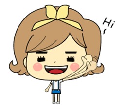 Girl's daily life sticker #1224282