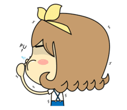 Girl's daily life sticker #1224287
