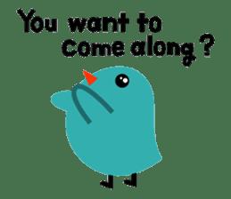 The blue bird of happiness sticker #1226059