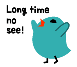 The blue bird of happiness sticker #1226062