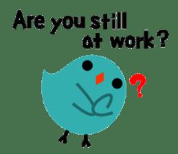 The blue bird of happiness sticker #1226063