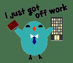 The blue bird of happiness sticker #1226068