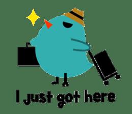 The blue bird of happiness sticker #1226070