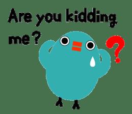 The blue bird of happiness sticker #1226075
