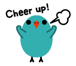 The blue bird of happiness sticker #1226076