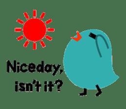 The blue bird of happiness sticker #1226079
