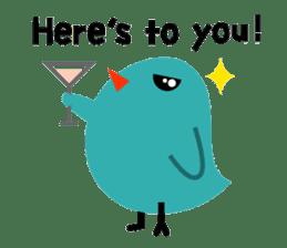 The blue bird of happiness sticker #1226081