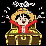 สติ๊กเกอร์ไลน์ วันพีซ × Naoko