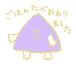 Rabbit, Hand, White, Triangle, Moon sticker #1228468