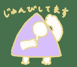 Rabbit, Hand, White, Triangle, Moon sticker #1228469