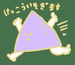 Rabbit, Hand, White, Triangle, Moon sticker #1228471