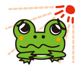 Life of the cheerful frog sticker #1229123