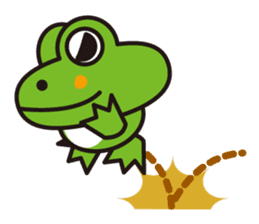 Life of the cheerful frog sticker #1229124