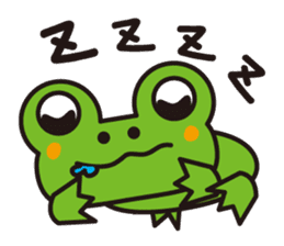 Life of the cheerful frog sticker #1229125