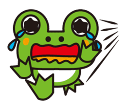 Life of the cheerful frog sticker #1229126
