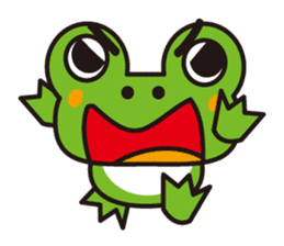 Life of the cheerful frog sticker #1229127