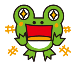Life of the cheerful frog sticker #1229128