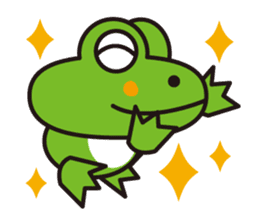 Life of the cheerful frog sticker #1229132
