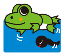 Life of the cheerful frog sticker #1229133