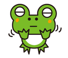 Life of the cheerful frog sticker #1229139