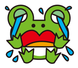 Life of the cheerful frog sticker #1229142