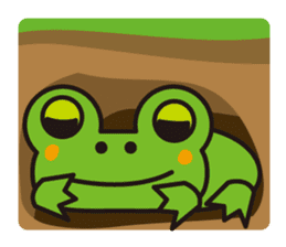 Life of the cheerful frog sticker #1229143