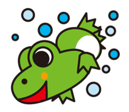 Life of the cheerful frog sticker #1229144