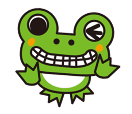 Life of the cheerful frog sticker #1229146