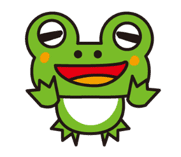 Life of the cheerful frog sticker #1229148