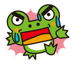 Life of the cheerful frog sticker #1229156