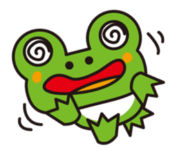 Life of the cheerful frog sticker #1229157