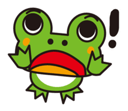 Life of the cheerful frog sticker #1229161