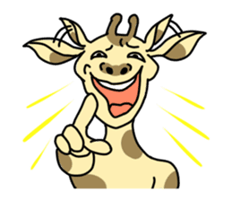 Exaggerated giraffe sticker #1229963