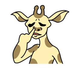 Exaggerated giraffe sticker #1229976